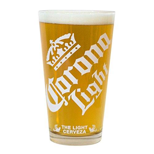 (Corona Light White Logo Pint Glass)