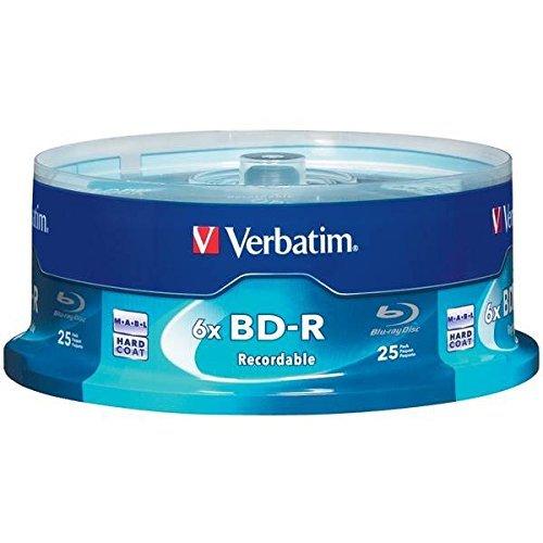 6x Blu-ray Disc BD-R (25-ct spindle) by Verbatim