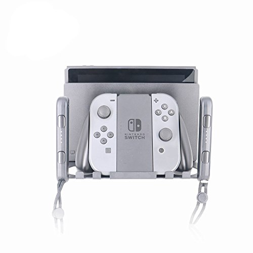 Wall Mount Bracket for Nintendo Switch,Near Or Behind TV,Save Space, Switch Dock Braket, More Convenient Gaming, Quick Heat Dissipation, Easy to Install