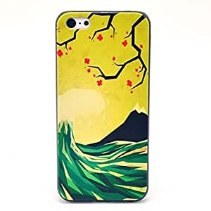 HP DF The Wave Flower Pattern Hard Case for iPhone 5C