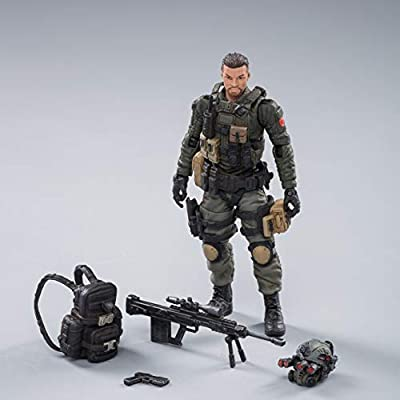 JoyToy Action Figures 4-Inch PLA Army Anti-Terrorism Unit Soldier Figure PVC Military Model Collection Toys: Toys & Games