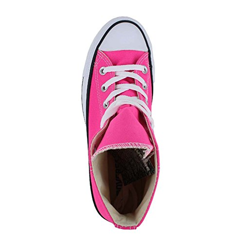 Sneakers Durable Pow Converse Taylor and Style Casual Top Star and All Chuck Uppers Color High Classic Pink in Canvas Unisex qprHq8SF