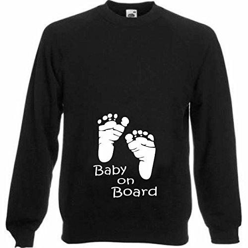 Femmes-Bébé à Bord-Sweat-shirt de maternité de bébé Cadeau de Baby Shower