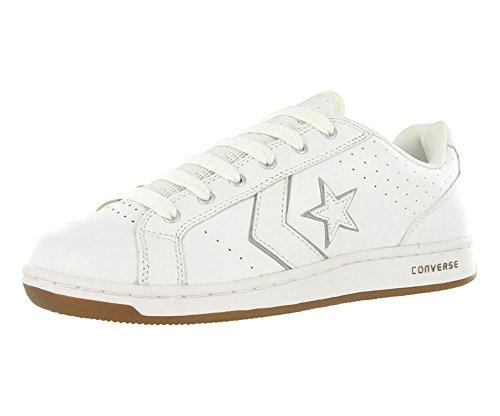 7773200c590f Galleon - Converse Unisex Karve Ox White Silver Skate Shoes Men s  9.5M Women s 11M