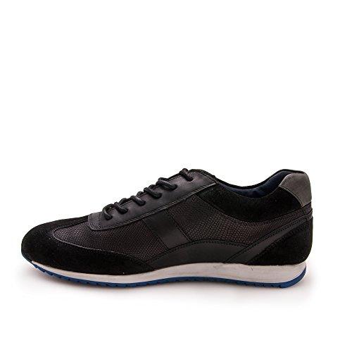 Hombre Hombre Para Para Zapato Deportivo Negro Piel Zerimar Zapato Cómodo de 8zqxwX