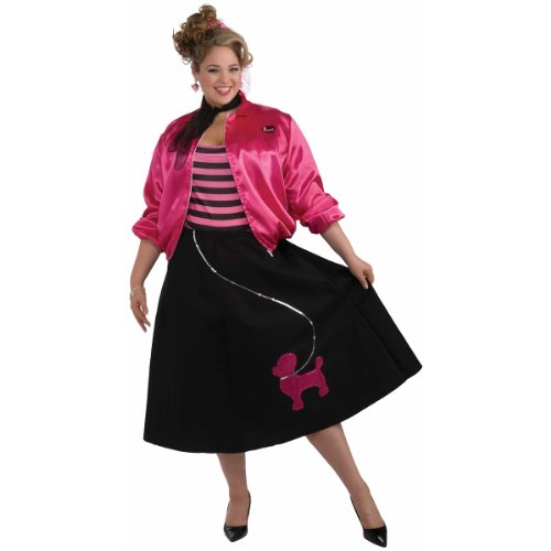[Poodle Skirt Set Costume - Plus Size - Dress Size 16-22] (Poodle Skirt Costume Plus Size)