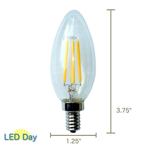 LED Day Chandelier Bulb with Candelabra Base (3 Pack)