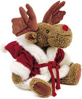 Boyds Bears Lavish IRWIN MOOSELTOE 917296 Moose Santa Christmas