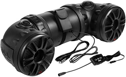 BOSS Audio ATV25B Bluetooth, Amplified, All-Terrain Sound System, Two 6.5 Inch Marine Grade Speakers, Two Waterproof Tweeters, Bluetooth Remote Included, Ideal For ATV/UTV and 12 Volt Applications