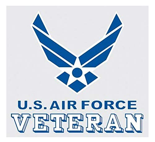 (United States Air Force Veteran Logo Car Decal US Military Gifts USAF Products)