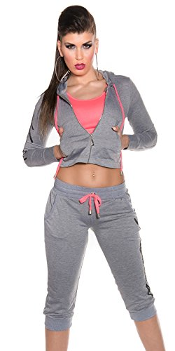 Sport De Capuche Eu Koucla 8 40 À 12 Pantalon Sweat 10 38 Superbe Survêtement 36 Uk Gris rwqw7ITt0F