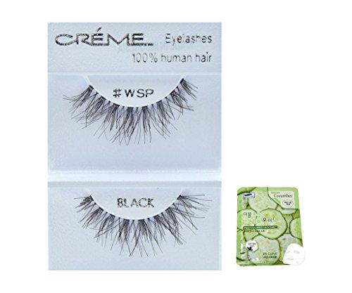 12 Pairs Creme 100% Human Hair Black Natural False Eyelashes Dozen Pack #WSP