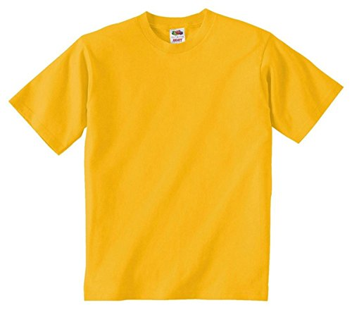 Fruit of the Loom Youth 100% Cotton Lofteez HD T-Shirt, Small, Gold