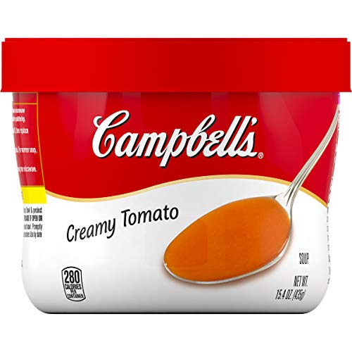 Campbell's Creamy Tomato Soup Microwavable Bowl, 15.4 oz. (Pack of 8) ()
