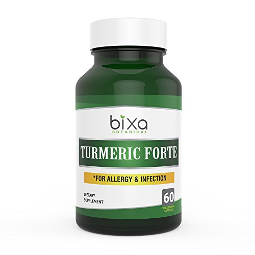 Turmeric Forte Capsules With 95  Curcuminoids   Helps To Control Chronic Allergic Reactions And Cough  Common Cold  Herbal Blood Purifier  Immunity Booster   Bixa Botanical  450Mg 60 Veg Capsules
