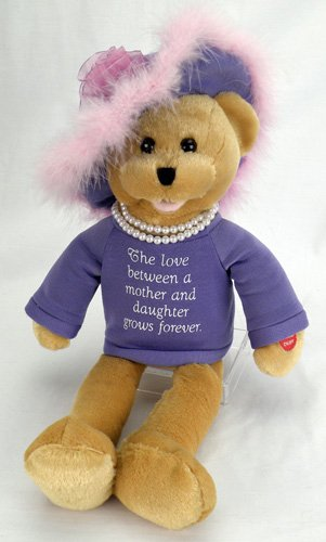 """Chantilly Lane Pearl's Daughter 19″ T-Shirt sings """"That's What Friends Are For"""" (Purple)"""