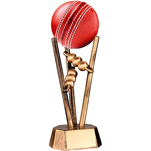 Resin Cricket (JR6-RF20 Brz/Gold Resin Cricket Ball Holder - 6.5in Includes Free Engraving (Up to 30 Characters))