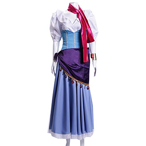 MYYH Anime Esmeralda Cosplay Dress Women Ball Gown Outfit Halloween Costume