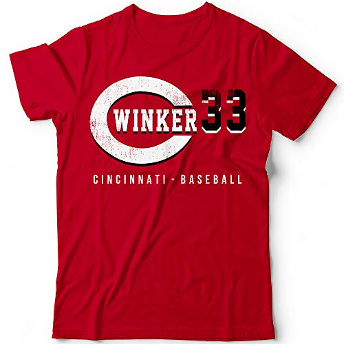 Winker No. 33 Reds Baseball Pitcher Players Field Home Run Champions Jersey Customized Handmade T-Shirt Hoodie/Long Sleeve/Tank Top/Sweatshirt