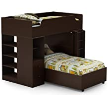 South Shore Logik Collection Twin 39-Inch Loft Bed Kit, Chocolate