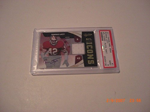 Ronnie Lott 2011 Absolute Mem. Nfl Icons Game Used Jersey Auto 1/25 Signed Card - Football Game Used Cards from Sports Memorabilia