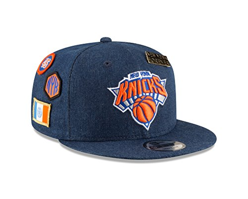 New Era New York Knicks 2018 NBA Draft 9FIFTY Snapback Adjustable Hat - Denim by New Era