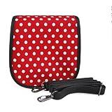 MINILUJIA charm White Red PU leather camera case bag for Fujifim instax mini 8-free Shoulder strap