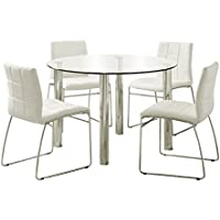 247SHOPATHOME Idf-8320T-WH-4PK Dining-Room-Sets, White