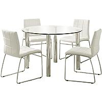 247SHOPATHOME Idf-8320T-WH-4PK Dining-Room-Sets, White