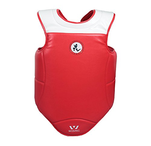 Wesing Muay Thai IFMA Approved Sparring Competition Chest Protector MMA Training Chest Shield