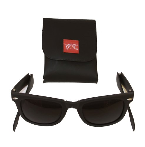 Gravity Shades Foldable Matte Black Sunglasses + GT - Wayfarer Foldable