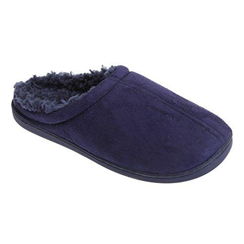 Universal Textiles Mens Luxury Feel Memory Foam Slip On Slippers Navy 2GvigwNvd