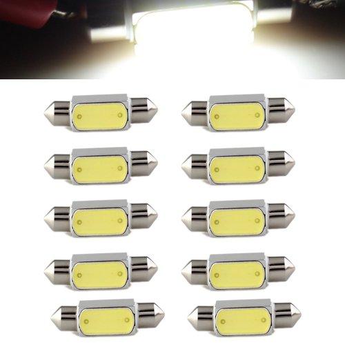 4 opinioni per SODIAL(R) 10x 3W Lampade 36mm LED COB Alta Potenza Luce Bianco DC12V 6000K