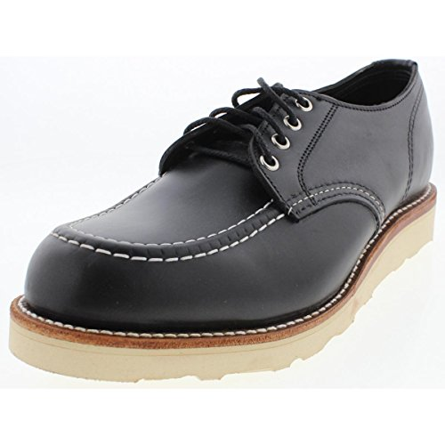 Chippewa 1901M38 Men's 4-in Mocc Toe Wedge Oxford Black Whirlwind 7 E US