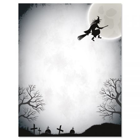 Over the Moon Halloween Letter Papers- 25 Sheets