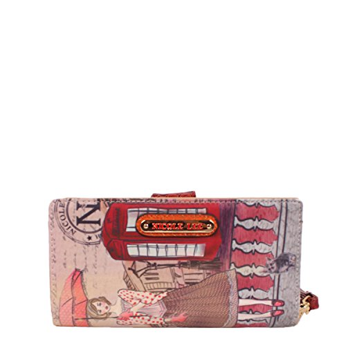 Gitana Vintage Print Wristlet Wallet, Telephone Booth (Nicole Lee Purses Paris)