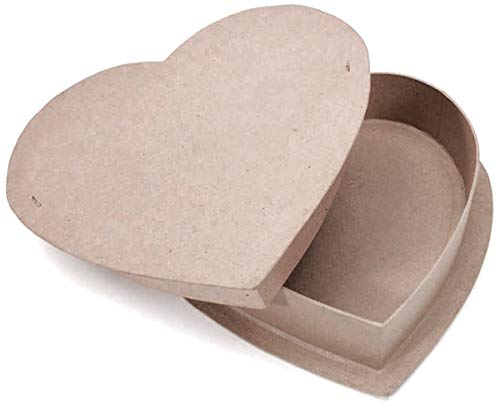 Darice Paper Mache Heart Box 12 Inches (6 Pack) by Generic (Image #1)