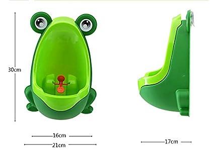 Westeng Urinoir mural en forme de grenouille pour les enfants qui ne mettent plus de couche 21*17*30cm vert