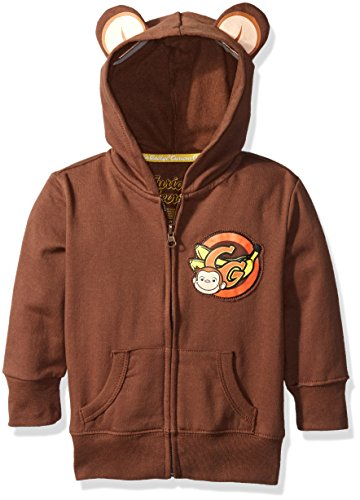 - Curious George Little Boys' Toddler Hoodie with Ears, Brown, 4T