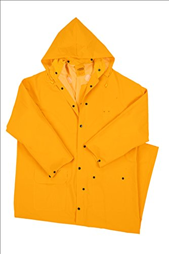 West Chester 4160 4XL 35 mil PVC Polyester Rider Coat, 60'', 4XL, Yellow