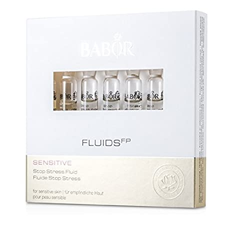 Babor Stop Stress Fluid (for Sensitive Skin)  7x2ml/0.07oz Eco Lips - Lip Balm Berry 15 SPF - 0.15 oz. (pack of 2)