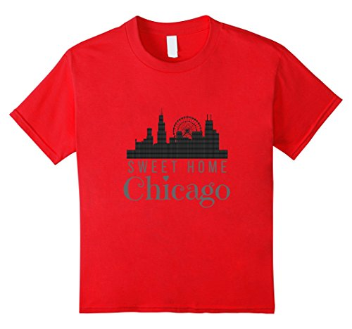 Price comparison product image Kids Sweet Home Chicago T-Shirt (Chicago Illinois Fan Shirt) 8 Red