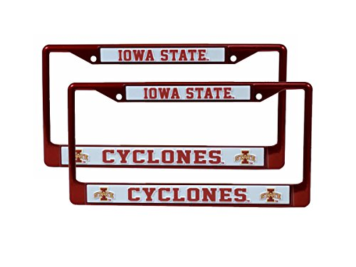 (Rico Iowa State Cyclones NCAA Licensed Red Painted Chrome Metal (2) License Frame)