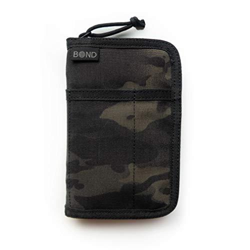 RFID Blocking Minimalist Passport Document Organizer Holder Pocket Notebook Cover Travel ()