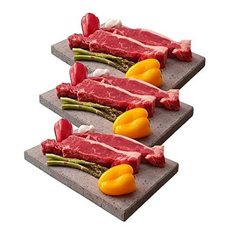 Promoción Tres Piedras volcánicas de 20x30x2 cm para Carne a la ...
