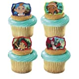 DecoPac 12 Jake and The Neverland Pirates Cupcake Cake Rings Party Favors