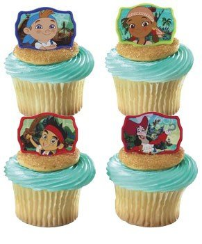 Decopac 12 Jake And The Neverland Pirates Cupcake Cake Rings Party