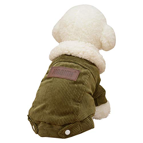 Pet Dog Cute Autumn Winter Warm Stylish Lamb Skin Jacket Clothes Jumpsuits Puppy Dress Outfits -