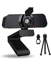 ZEEFO 1440P HD Webcam met Microfoon, 3D Denoising, 2k 115 ° Wide Angle Webcam voor PC Mac Laptop, USB Webcam met Cover Stand, Plug and Play, voor Live Streaming, Video Chat, Conferentie, Online Klassen