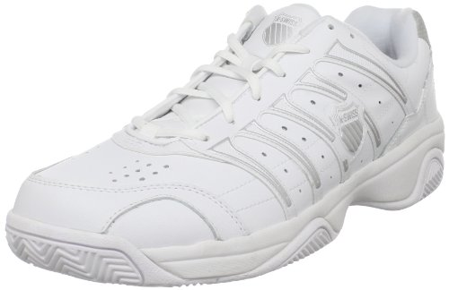 K-Swiss Men's Grancourt II Tennis Shoe,White/Silver,11 M